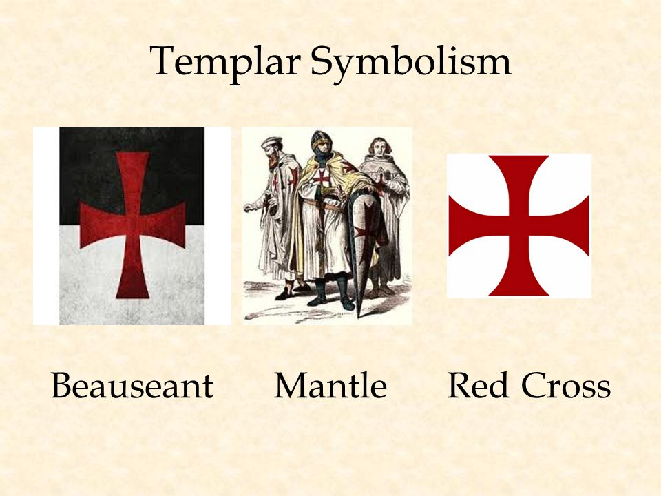 Templar Symbolism BeauseantMantleRed Cross