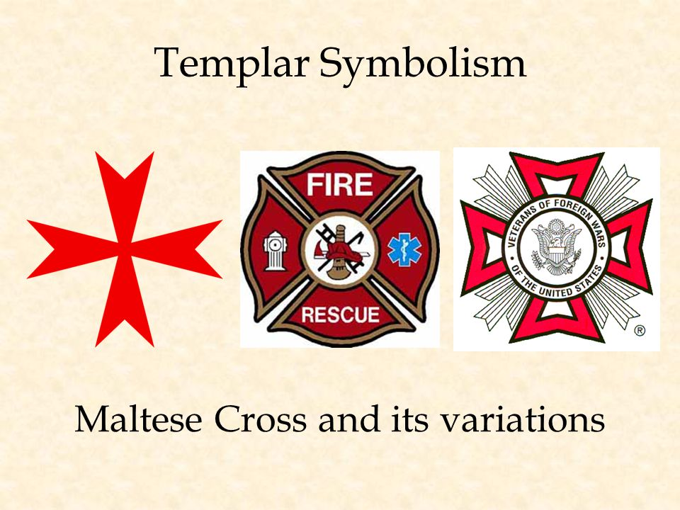 Templar Symbolism Maltese Cross and its variations