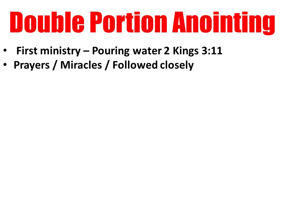 Double Portion Anointing 06 Jan 2015 Miracle Life Power