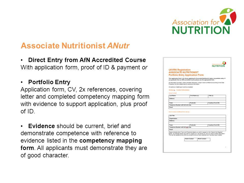 Association for Nutrition (AfN) Advancing standards of