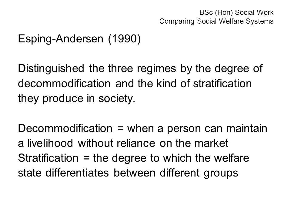 esping andersen welfare regimes