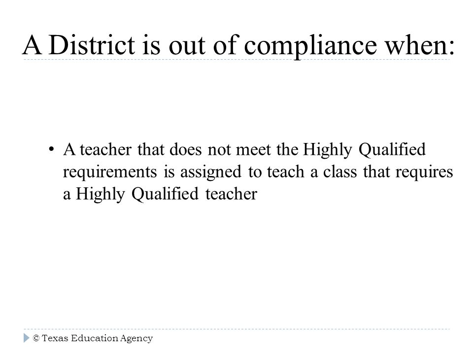 100% highly qualified nclb. objectives learn about federal program ...