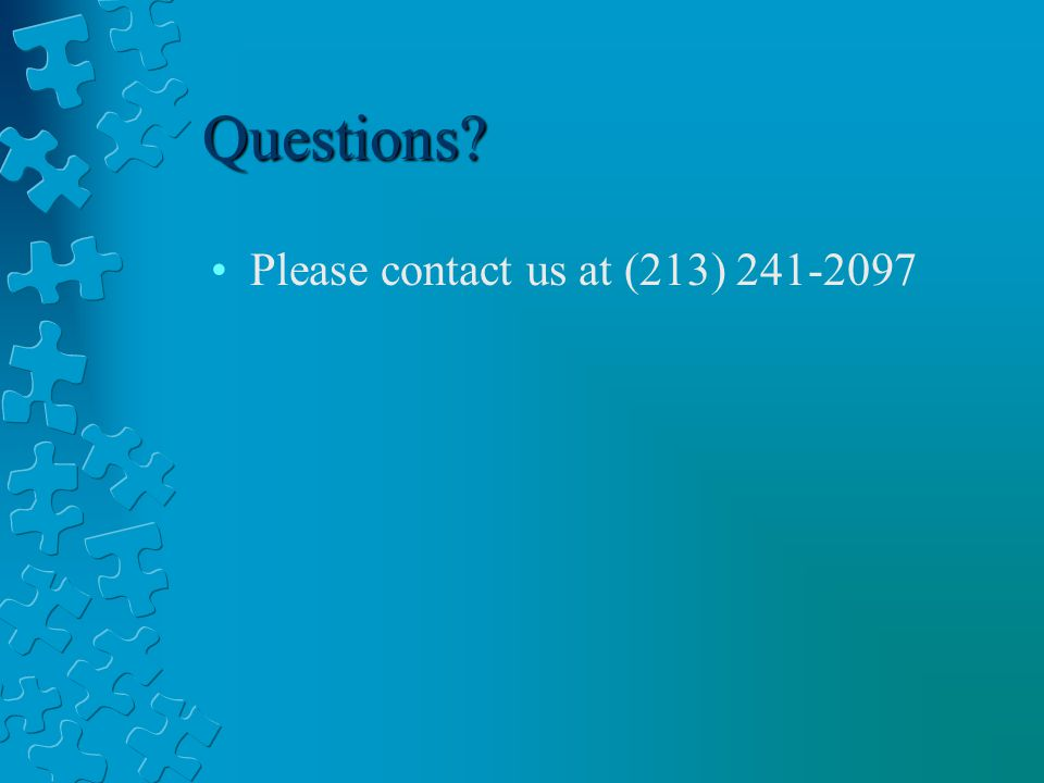 Questions Please contact us at (213)