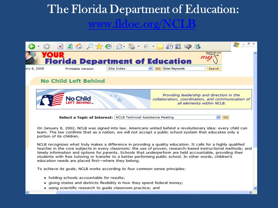 The Florida Department of Education: