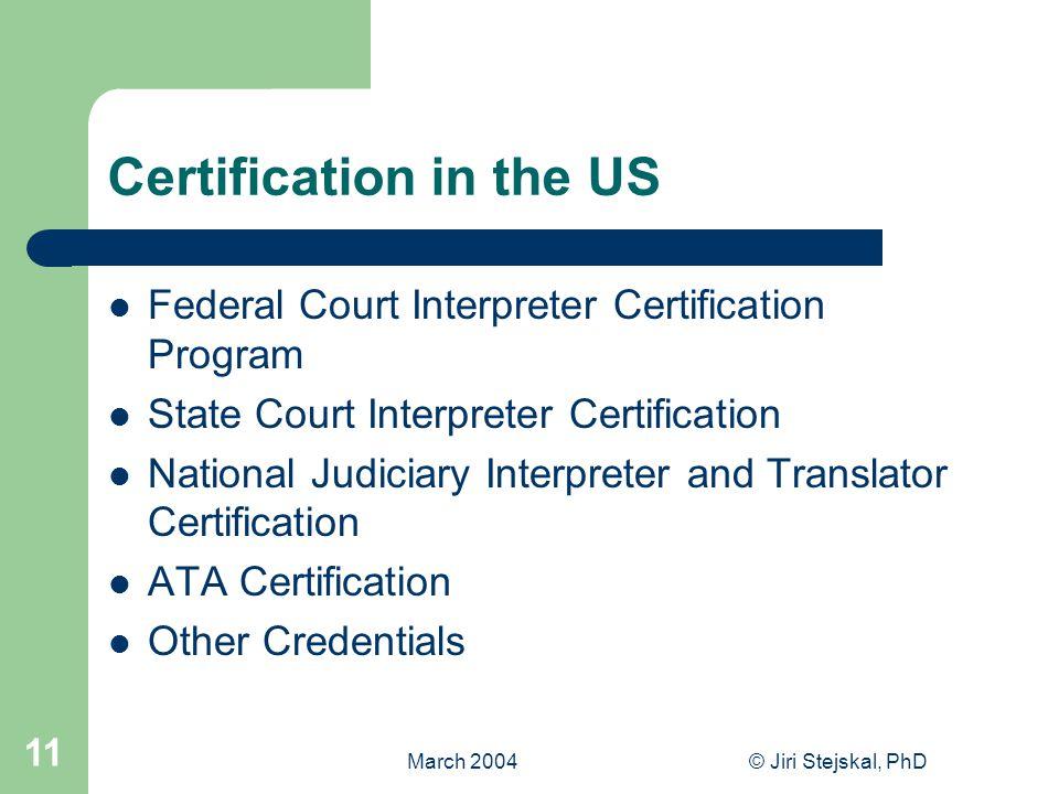 Certification Of Translators And Interpreters Seminar On Standards