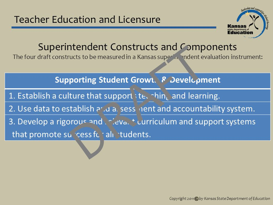 Teacher Education and Licensure Supporting Student Growth & Development 1.