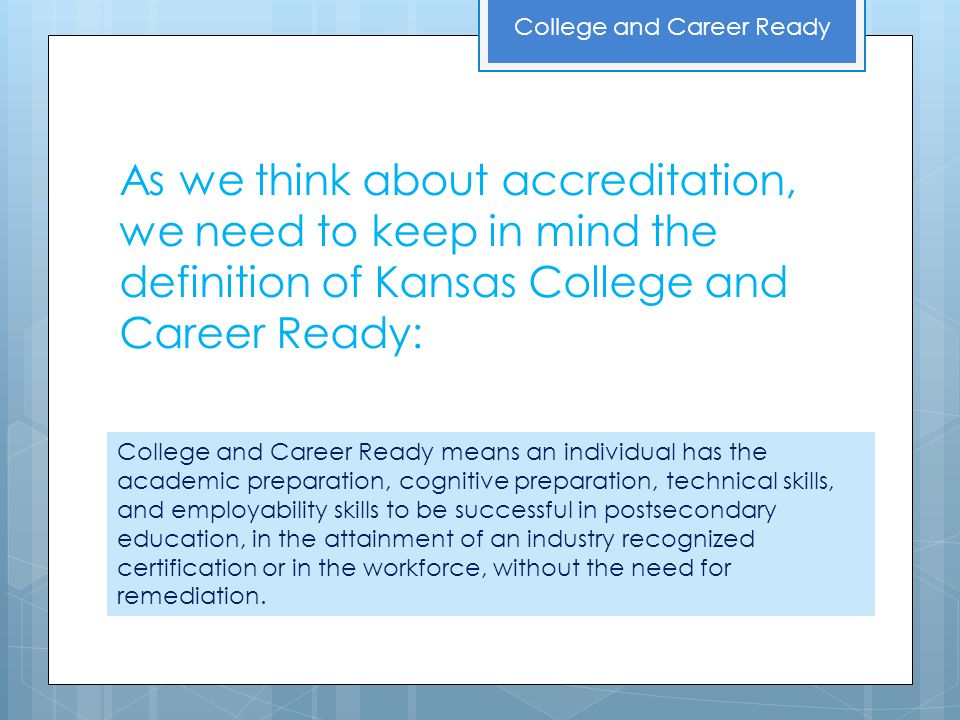 How Do You Spell Exciting The Newly Envisioned Accreditation System