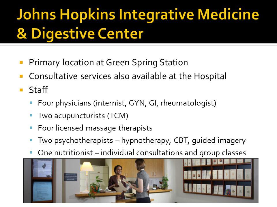 JHI Partners Forum, 2012 Linda A  Lee, MD Johns Hopkins Integrative
