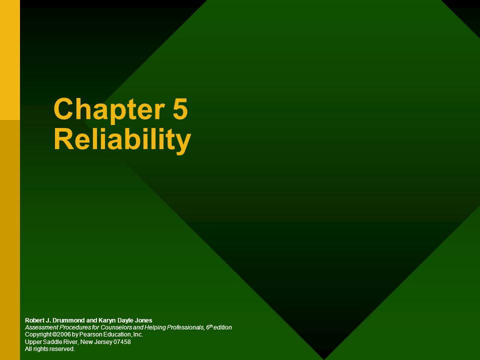 Chapter 5 Reliability Robert J.