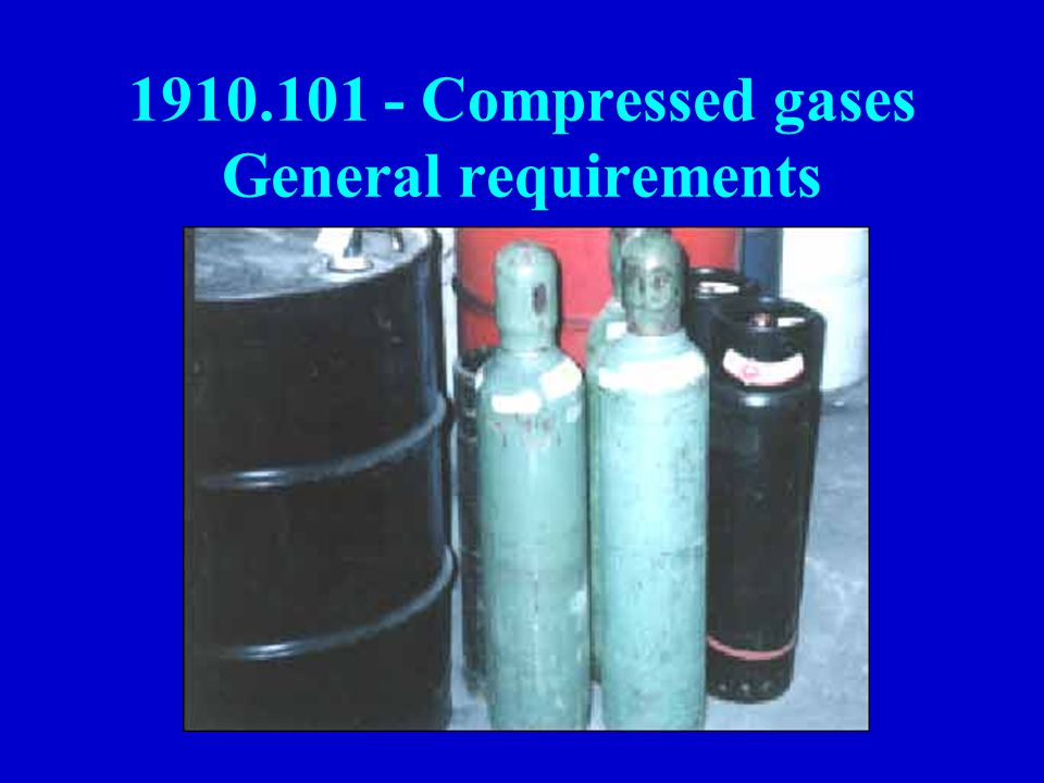 Compressed gases General requirements