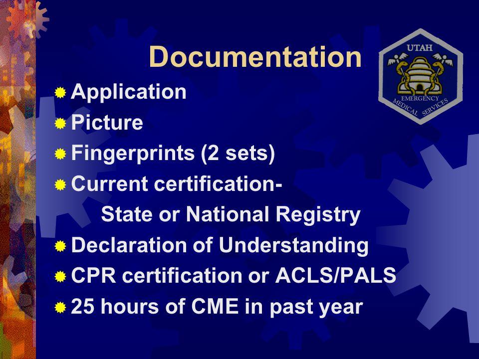 Reciprocity Orientation Presented by Bureau of Emergency Medical ...