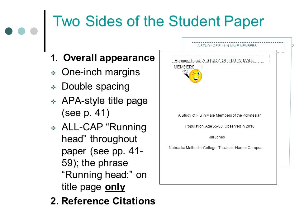 apa paper running head