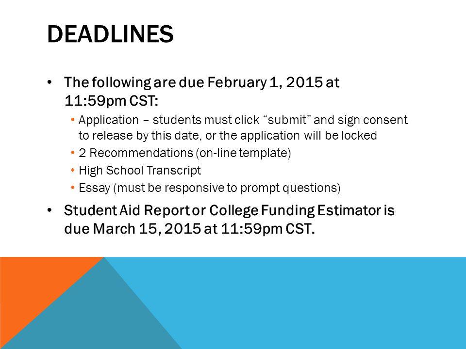susan buffett scholarship deadline