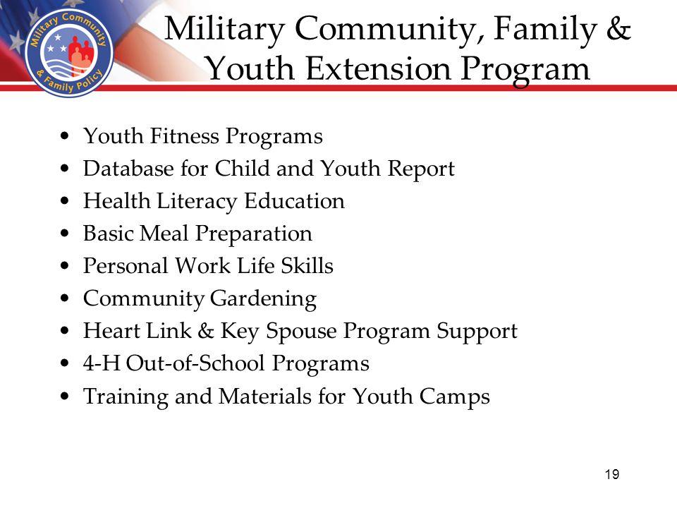 Extension-Military Partnership Cathann A  Kress, Program
