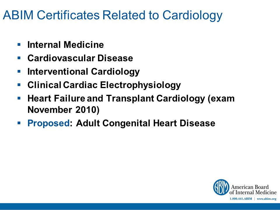 Maintenance of Certification (MOC) for Cardiologists Laura