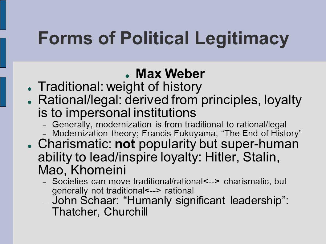 outline four features of legitimacy