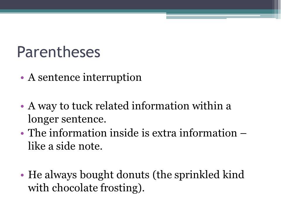 parentheses singular
