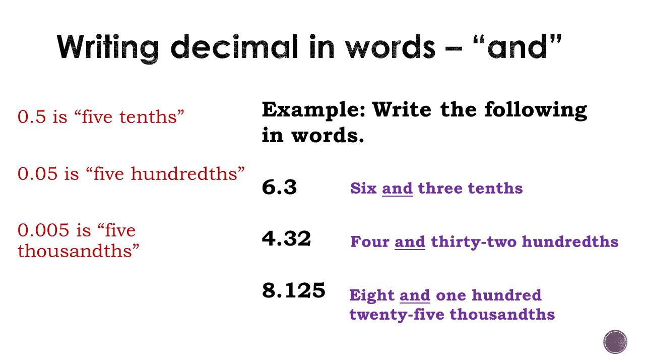 Catherine Conway Math 081 Writing Decimals In Expanded Form Is