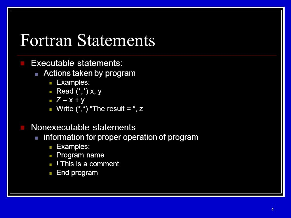 1 Chapter 2 Basic Elements of Fortran Programming  - ppt