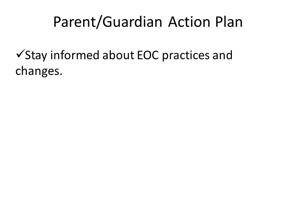Stay informed about EOC practices and changes.