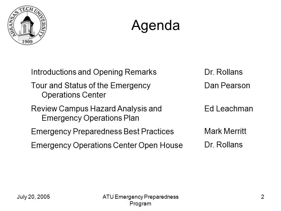 Arkansas Tech University Emergency Preparedness Program. - ppt download