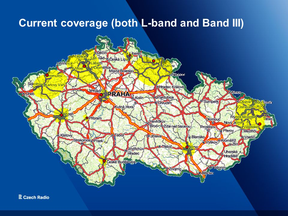 Current coverage (both L-band and Band III)