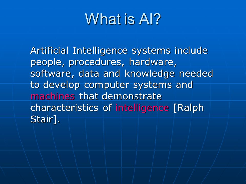 What is AI.