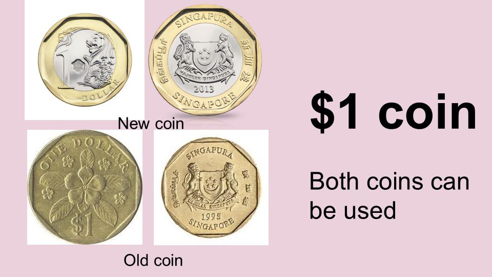 $1 coin New coin Old coin Both coins can be used