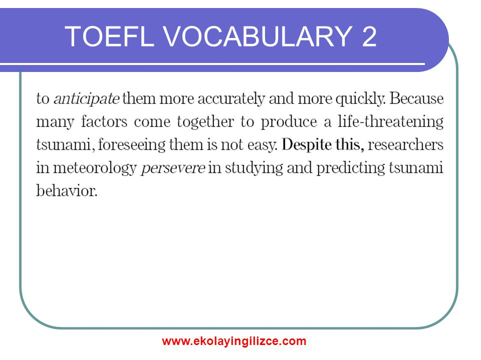 TOEFL VOCABULARY 2