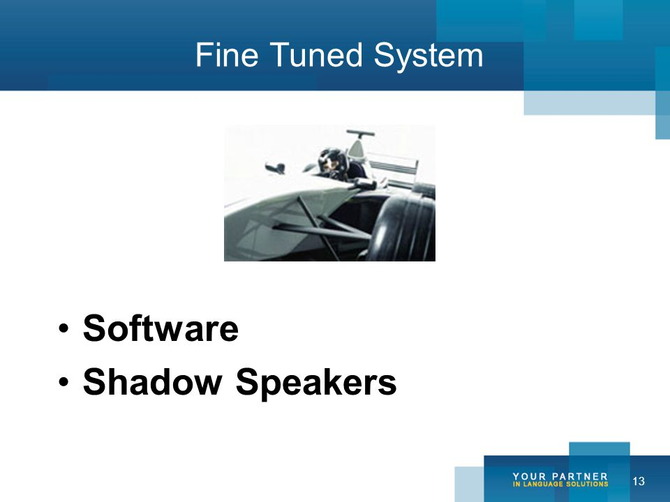 13 Fine Tuned System Software Shadow Speakers
