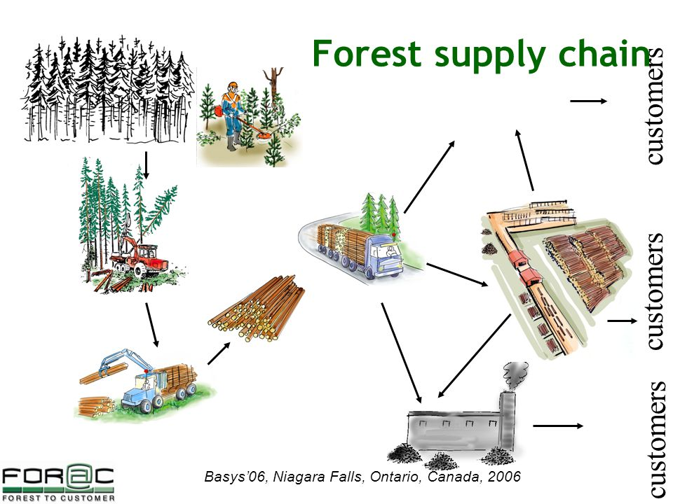 Basys'06, Niagara Falls, Ontario, Canada, 2006 customers Forest supply chain