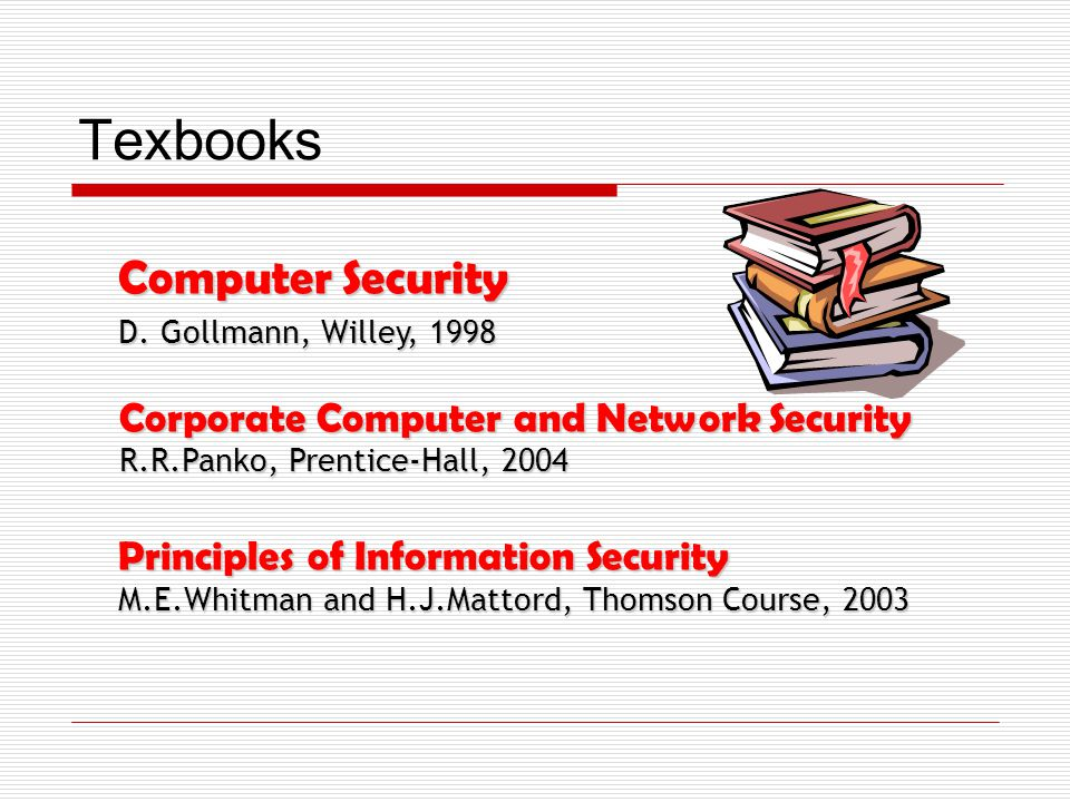 Texbooks Computer Security D.