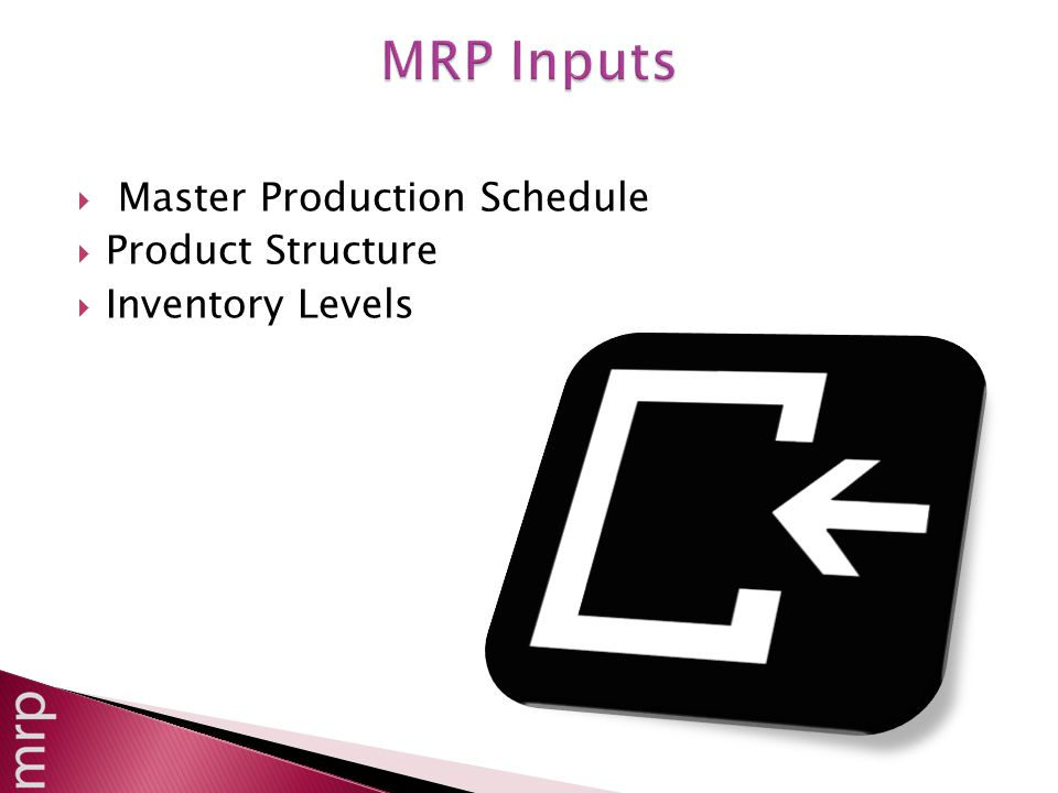 Master Production Schedule  Product Structure  Inventory Levels