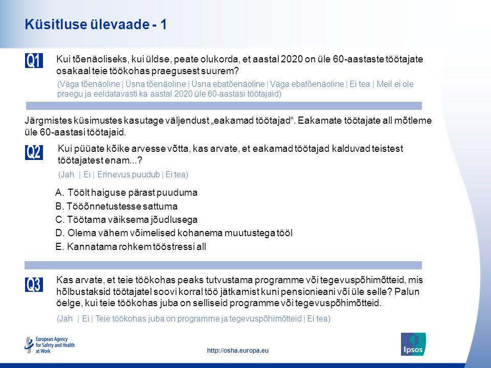 a713bf198df Üleeuroopaline rahvaküsitlus tööohutuse ja töötervishoiu kohta ...