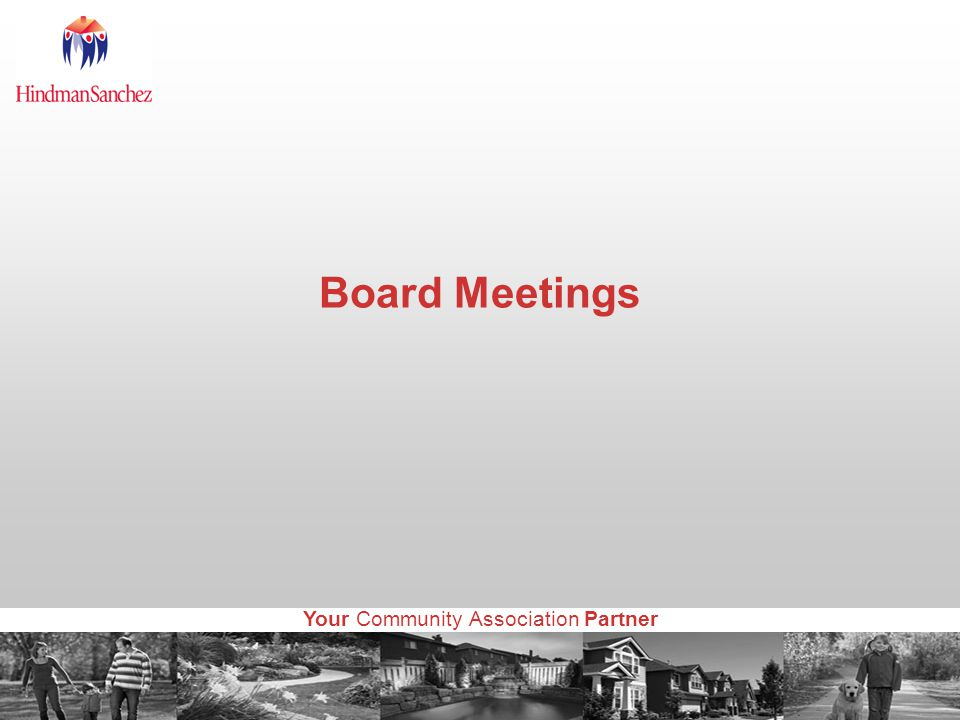 Your Community Association Partner Board Meetings