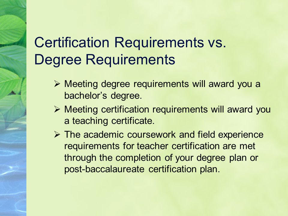 the road to certification understanding and planning for the