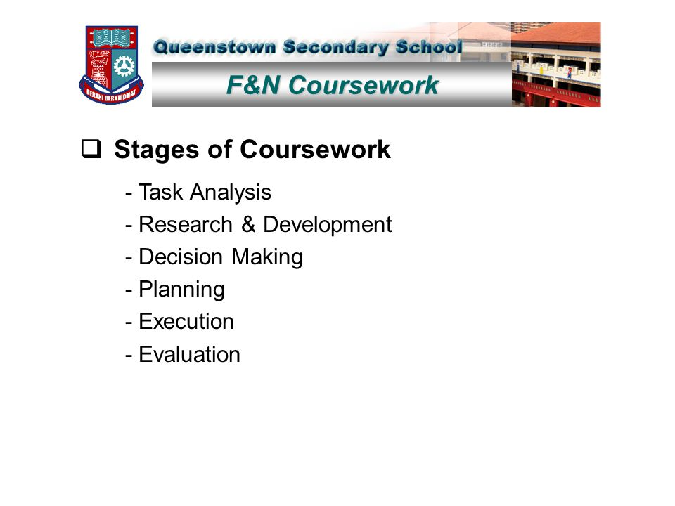 f&n coursework singapore