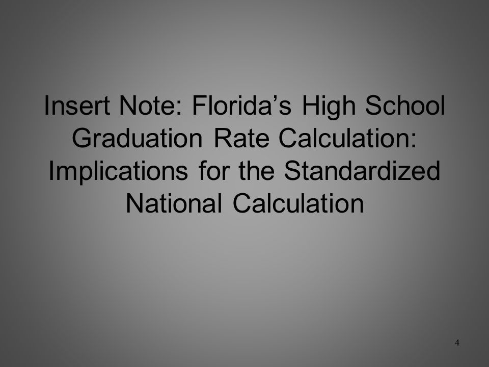 New Component #1: Graduation Rate Proposal: Use Florida High School Graduation Rate calculation that excludes GEDs (NGA rate) Use current year rate; not lagged measure.