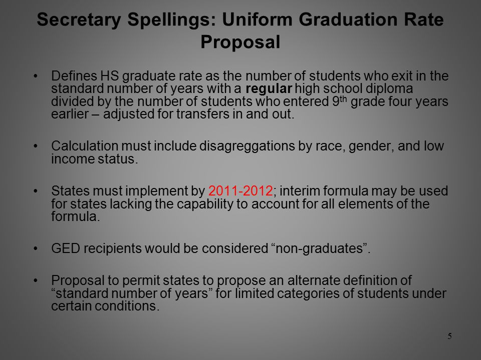 Insert Note: Florida's High School Graduation Rate Calculation: Implications for the Standardized National Calculation 4