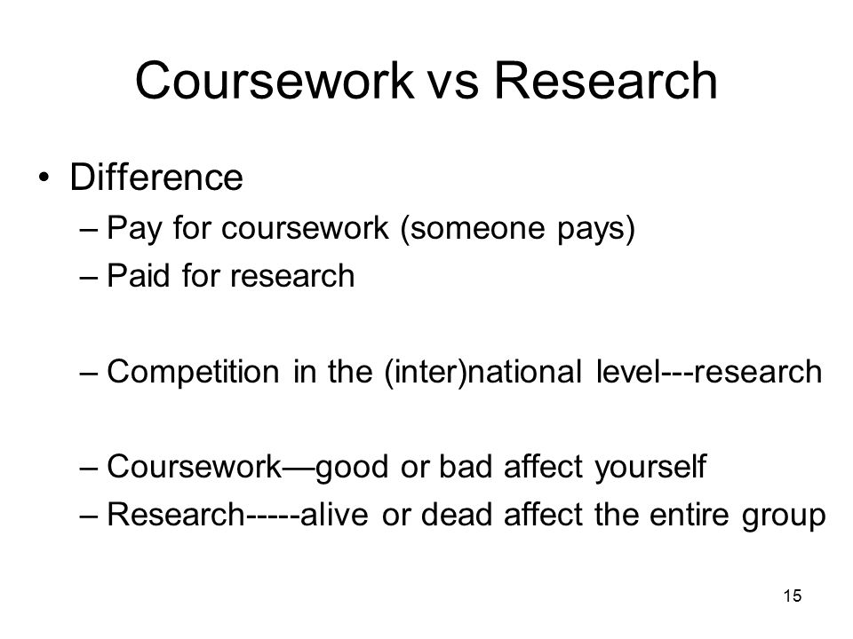 Coursework research difference