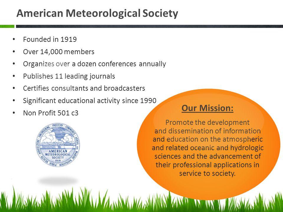 Dr  James Brey AMS Education Program Preparing Tomorrow's