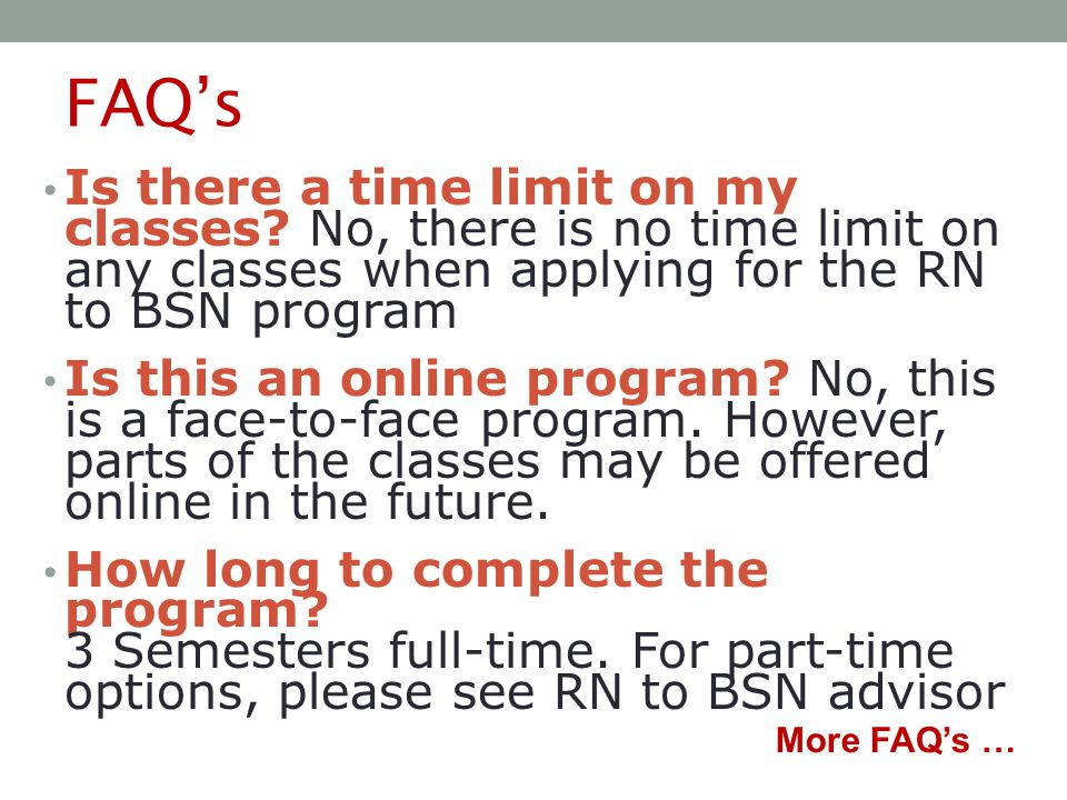 FAQ's Is there a time limit on my classes.