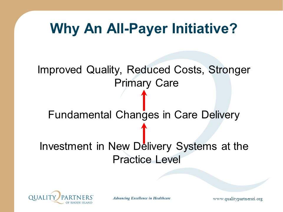 Why An All-Payer Initiative.