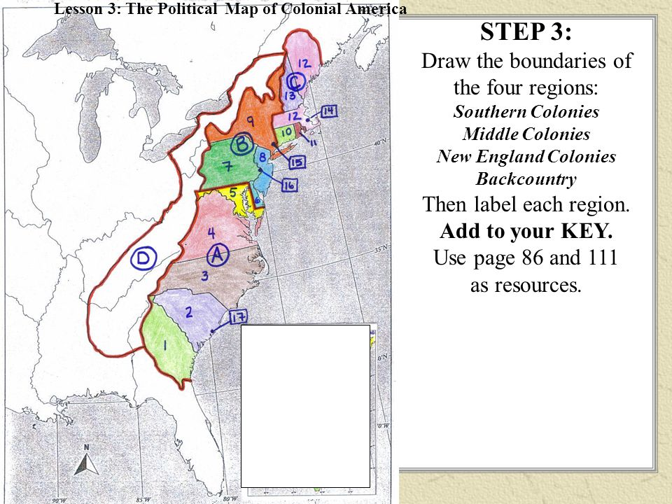 Colonies Resources Map on