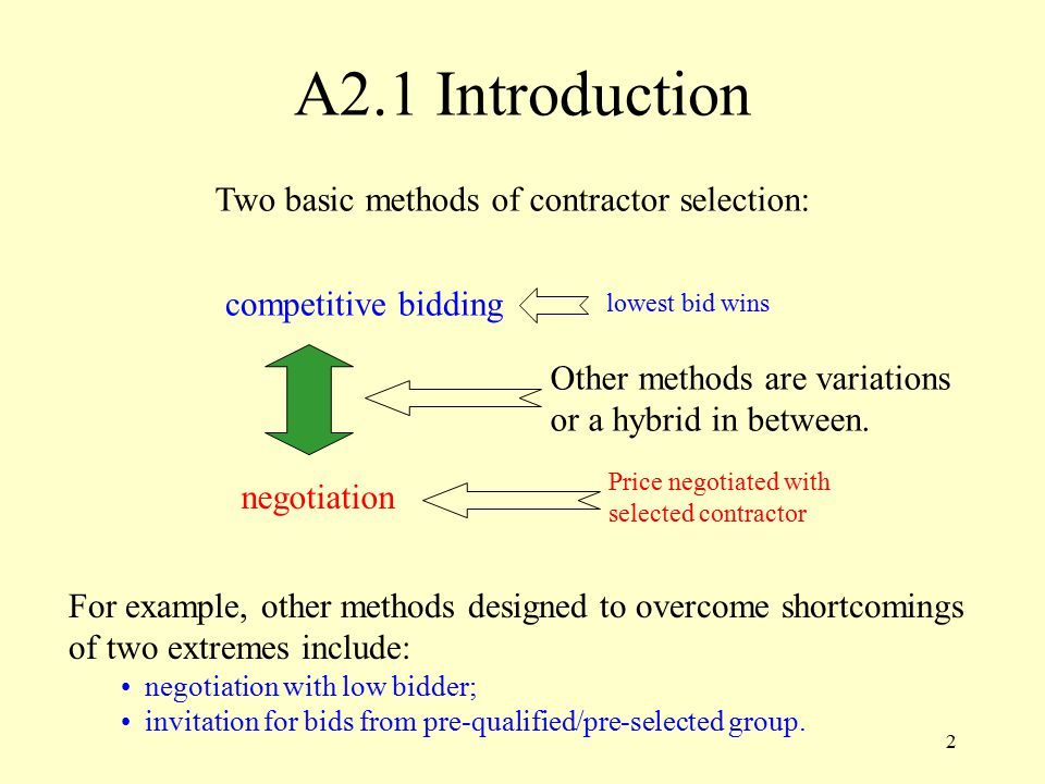 1 Appendix 2: Bid Evaluation and Contract Award Systems  Overview