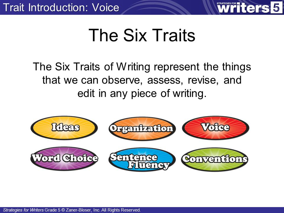 Strategies for Writers Grade 5 © Zaner-Bloser, Inc.
