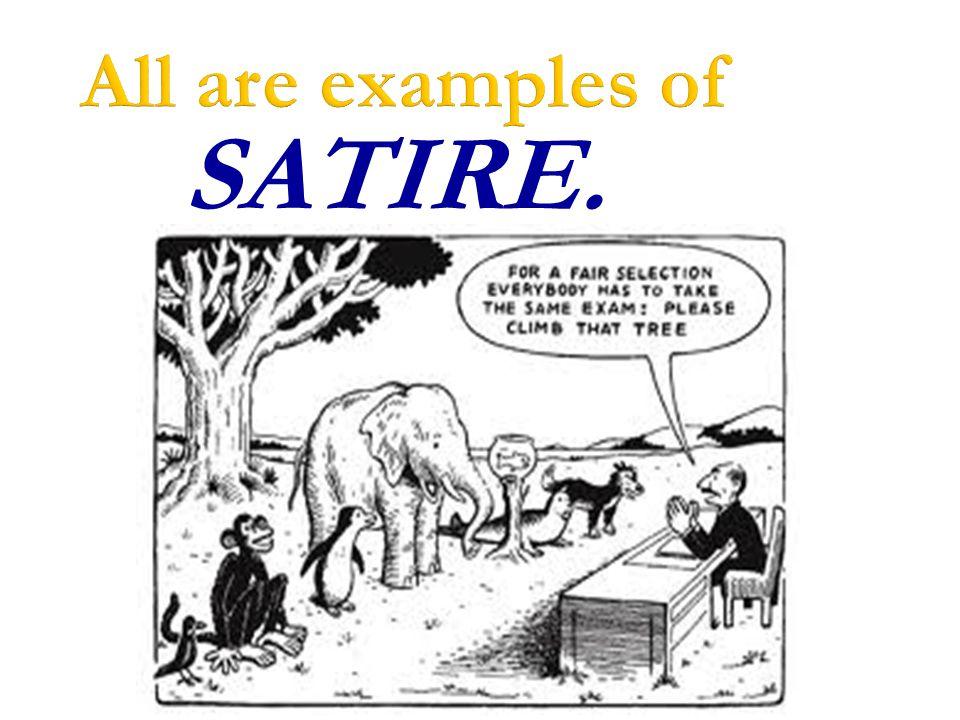 satirizing examples