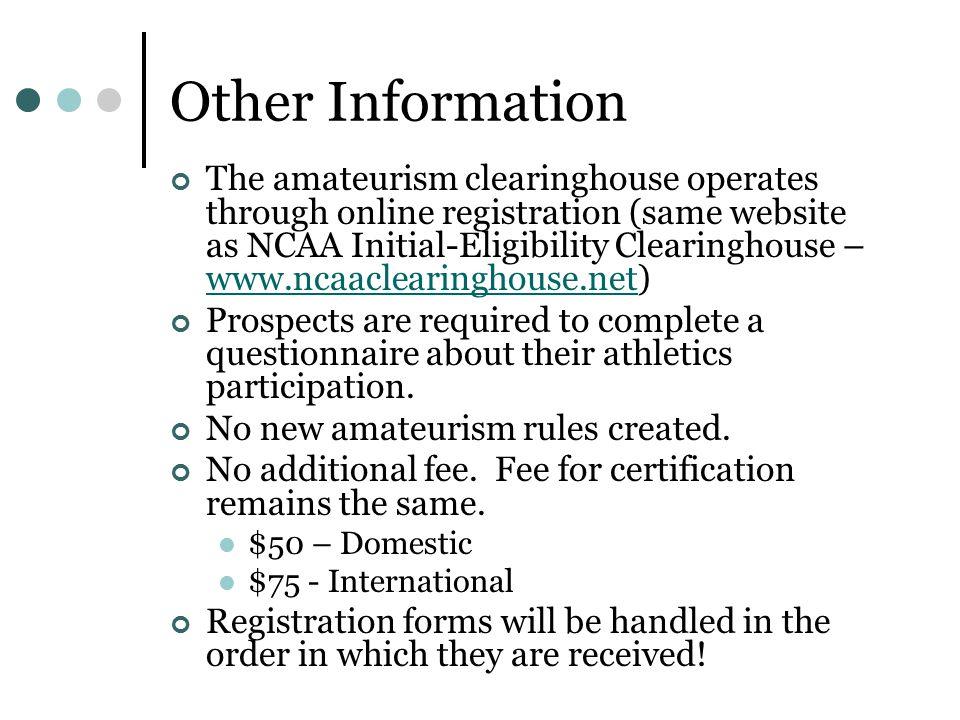 summary ncaa amateur rules