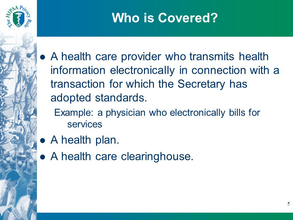 5 Who is Covered.