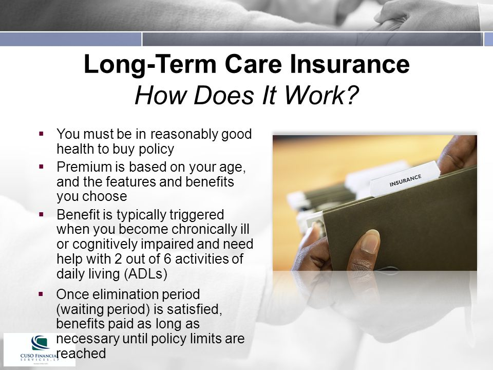 Long-Term Care Insurance How Does It Work.
